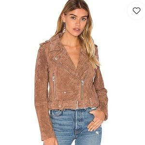 NWT BLANKNYC Suede Moto Jacket Coffee Bean Small